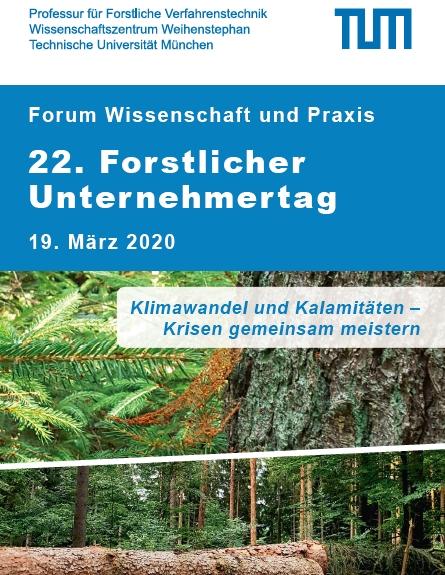 Absage des 22. Forstlichen Unternehmertag