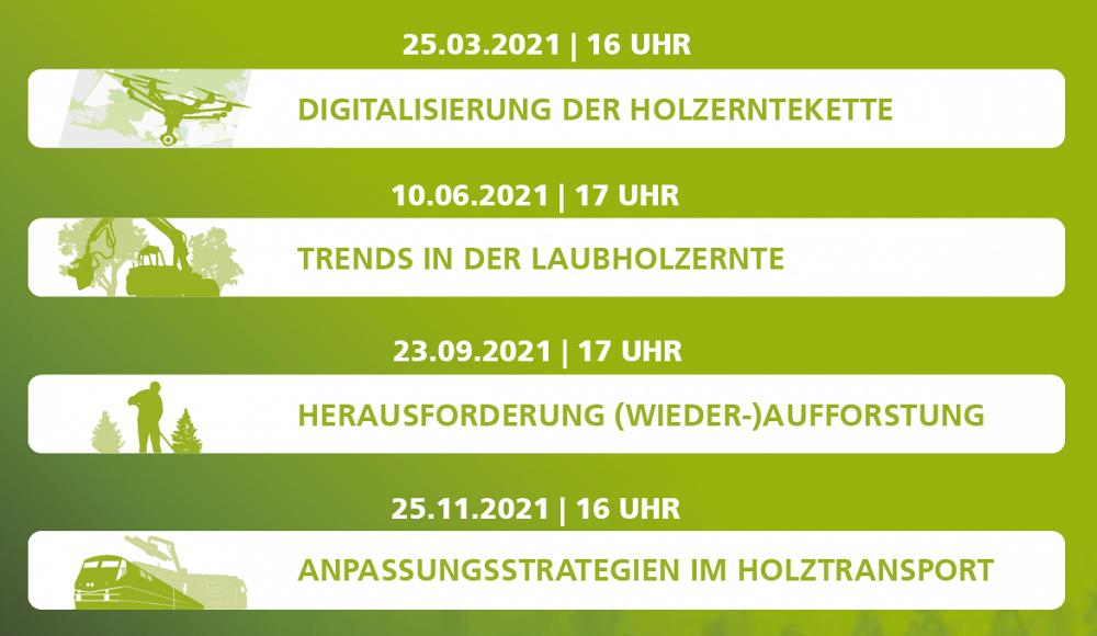 Trends in der Laubholzernte: Forstlicher Unternehmertag - Ressource Holz virtuell 10.06.2021